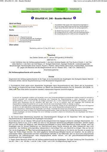 DFR - BVerfGE 41, 246 - Baa... - Legislationline