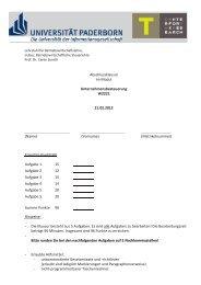 Abschlussklausur WS 11/12 - Universität Paderborn