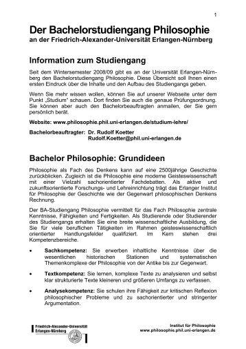 Bachelor - Institut für Philosophie - Friedrich-Alexander-Universität ...