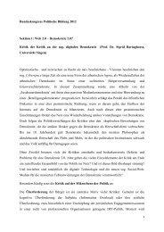 Bundeskongress politische Bildung 2012 | Zeitalter der Partizipation