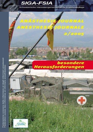 2/2005 - Schweizerische Interessengemeinschaft für Anästhesiepflege