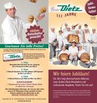 Jubi-Newsletter_01-2011 - Bäckerei Dietz