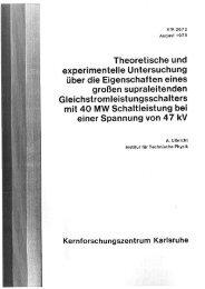 Theoretische und experimentelle Untersuchung über die ... - Bibliothek