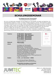 Termine Schulung Grundkurs Juni bis Dezember (pdf ... - jumtec