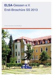 ELSA-Giessen e.V. Ersti-Broschüre SS 2013