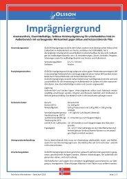 Technisches Merkblatt - OLSSON