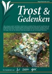 """August / September 2013 """"Neu und ganz anders"""" sind Worte ... - Florist"""