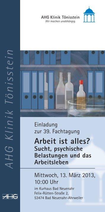 Flyer zur Fachtagung 2013