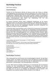 Nachhaltige Fischerei Nachhaltige Fischerei - SDN