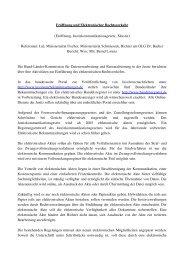 Eröffnung und Elektronischer Rechtsverkehr
