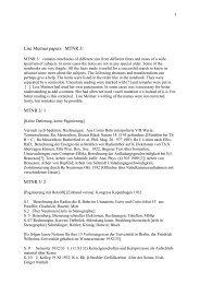 Lise Meitner papers MTNR 3/