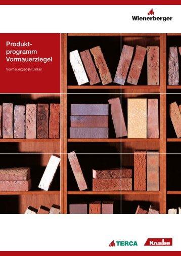 Produktprogramm Vormauerziegel
