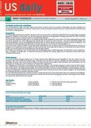 US daily - BNP Paribas