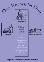 Gemeindebrief für Februar und März 2011 als PDF - Kirche Mahlsdorf