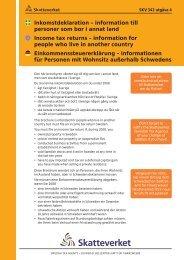 SKV 342 utgåva 4, Inkomstdeklaration – information ... - Skatteverket