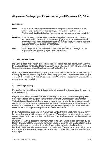 AVB - Bernauer AG