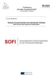 """""""Sozialer Zusammenhalt"""" - LASA Brandenburg GmbH"""