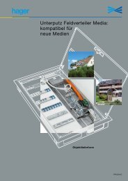 Unterputz Feldverteiler Media: kompatibel für neue Medien - Hager