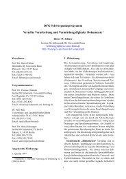 DFG Schwerpunktprogramm Verteilte Verarbeitung und Vermittlung ...