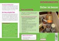Gefährliche Abfälle - Entsorgungsbetrieb der Stadt Mainz