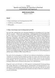 Bibliografie - Institut für Deutsche Sprache
