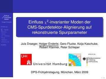 Einfluss 2-invarianter Moden der CMS-Spurdetektor ... - Desy