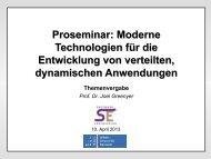 Proseminar: Moderne Technologien für die Entwicklung von ...