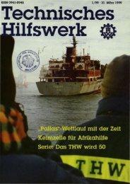 ISSN 0941-0945 1/99 . 31. MlII'z 1999 - THW-historische Sammlung