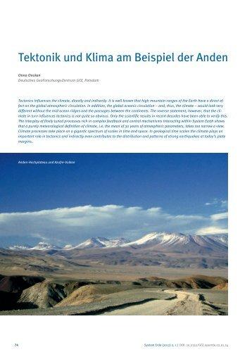 Tektonik und Klima am Beispiel der Anden - E-Books Deutsches ...