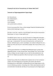 Empfang für das Zürcher Konsularkorps, 30. Oktober 2009, Zürich ...