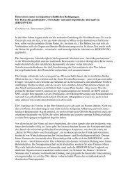 Heterodoxie unter sozialpartnerschaftlichen ... - BEIGEWUM