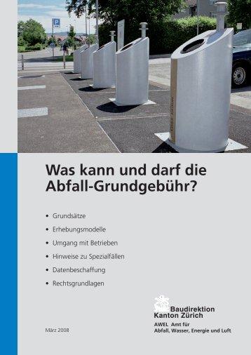 Was kann und darf die Abfall-Grundgebühr? - Abfall.ch