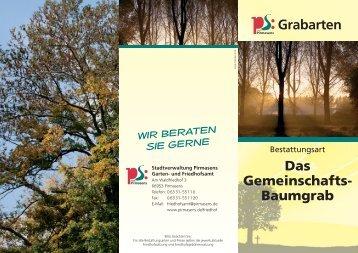 Das Gemeinschafts- Baumgrab Grabarten