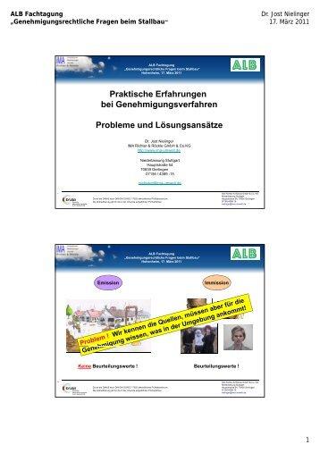Praktische Erfahrungen bei Genehmigungsverfahren Probleme und ...