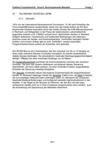 A1 Der IEEE488-/ IEC625-Bus (GPIB) A1-1. Übersicht ... - TI 2000