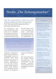 """Studie """"Die Zeitungsmacher"""" - Drehscheibe"""