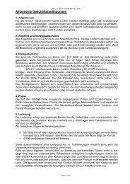 Allgemeine Geschäftsbedingungen 2010 - SALLY naturkosmetik