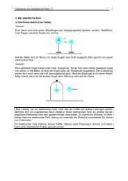 3. Das elektrische Feld a. Nachweis elektrischer Felder Versuch ...