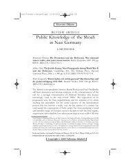 Public Knowledge of the Shoah in Nazi Germany - Woolf Institute