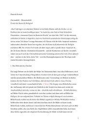 1 Dietrich Korsch Christusbild – Menschenbild Ersetzt die Kunst die ...
