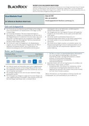 Wesentliche Informationen für den Anleger - Cortal Consors