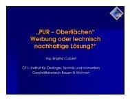 """""""PUR – Oberflächen"""" Werbung oder technisch ... - bauXund"""