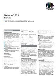 Technische Information - Caparol Farben AG