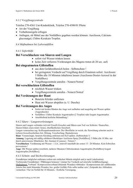 Laborsicherheit - CGG