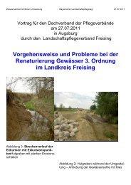 Vorgehensweise und Probleme bei der Renaturierung Gewässer 3 ...