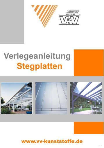 Verlegeanleitung Stegplatten Stand 04.2013 - V + V Kunststoffe
