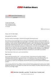 CDU-Fraktion Moers - CDU Moers