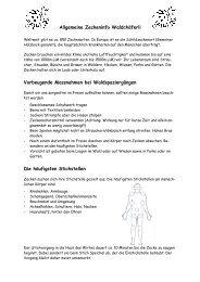 Allgemeine Zeckeninfo Waldchäferli Vorbeugende Massnahmen bei ...