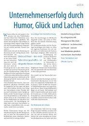 Unternehmenserfolg durch Humor, glück und lachen - Steinkellner ...