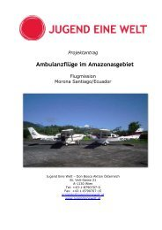 Ambulanzflüge im Amazonasgebiet - Jugend Eine Welt
